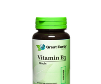 Great Earth Vitamin B3 Niacin, 60 tabletter