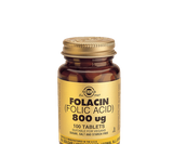 Solgar Folic Acid 800 mcg, 100 tabletter